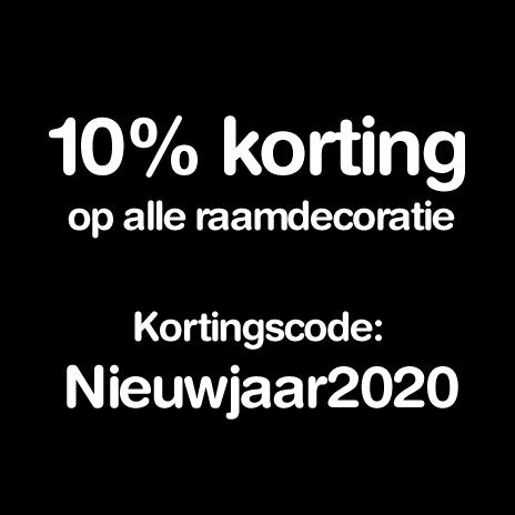 10% korting op alle raamdecoratie | Kortingscode: Nieuwjaar2020