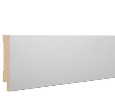 Hoekplint MDF wit folie 90x16mm 240cm