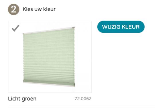 Groene plissegordijnen