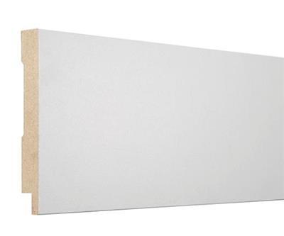Hoekplint MDF wit folie 120x16mm 240cm