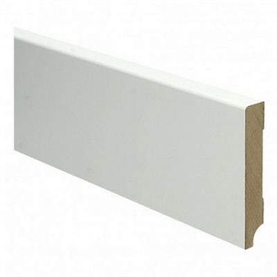 Moderne Plint MDF wit folie 90x16mm 240cm